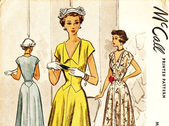 McCall 7698 Vintage 1940s Evening or Day Dress by DRCRosePatterns