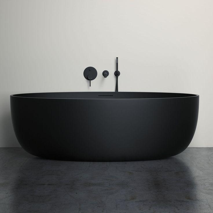 """""""Mi piace"""": 10 mila, commenti: 92 - Architecture & Design (@architectanddesign) su Instagram: """"Vetrina Black Stone Resin Solid Surface Freestanding Bath designed by Lusso Stone. via:…"""""""