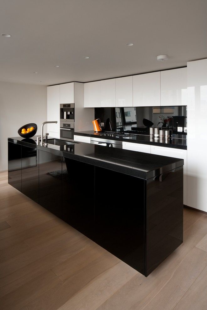 compact kitchen units black gloss and white kitchen unit black fruit bowl black backsplash super contemporary kitchen of Amazing Choices of Compact Kitchen Units to Pick