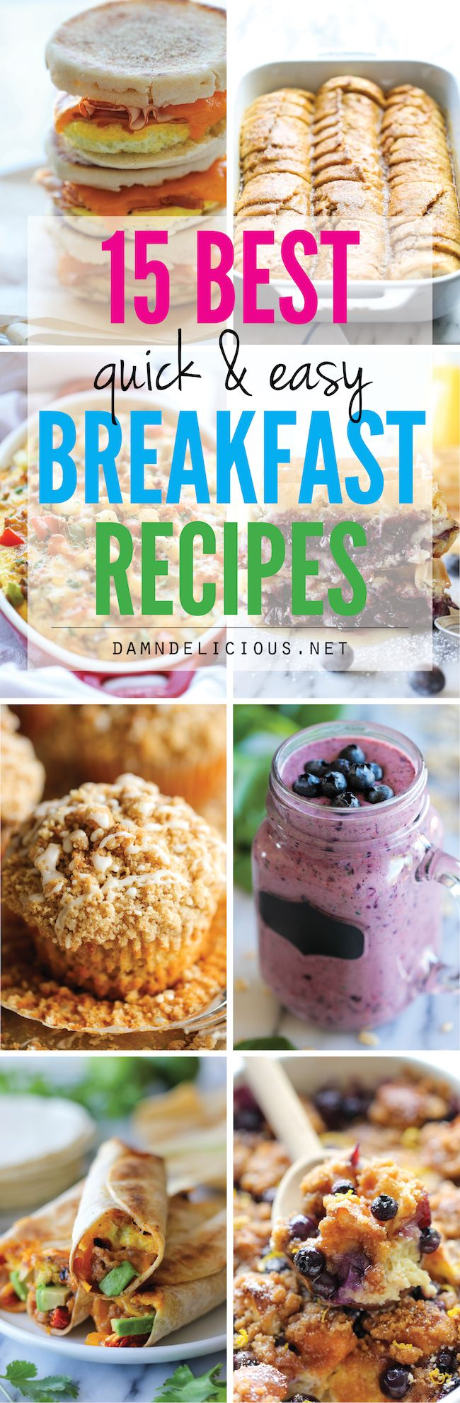 15 Best Quick and Easy Breakfast Recipes