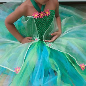 Clever interpretation of Elsa's Frozen Fever Dress as a long tutu dress. This costume is from eBay in the U.K.