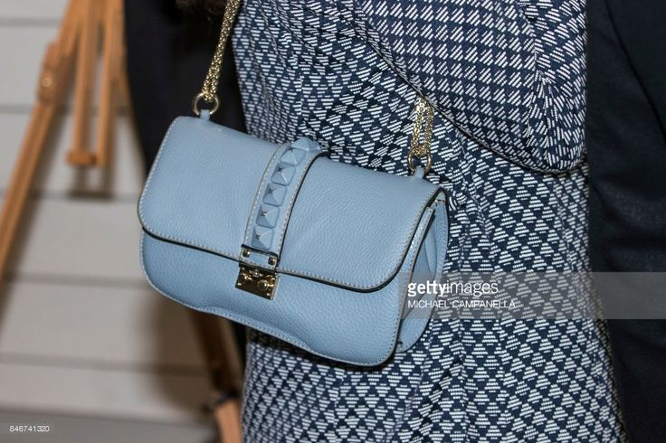 Valentino handbag worn by Princess Victoria of Sweden while attending the 2017 Stockholm Security Conference at Artipelag on September 14, 2017 in Stockholm, Sweden.