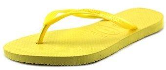 Havaianas Slim Women Open Toe Synthetic Yellow Flip Flop Sandal.