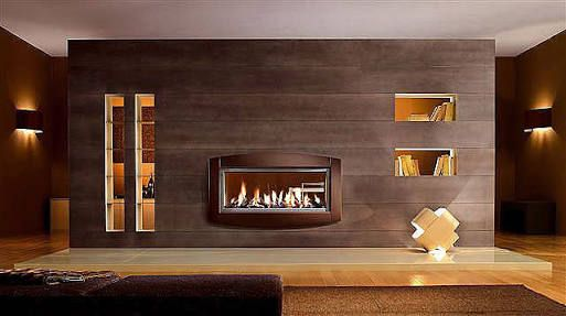 double sided wood fireplace - Google Search