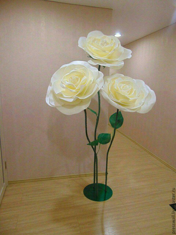 Купить Большие цветы из изолона - цветы ручной работы, цветы, бумажные цветы, свадьба
