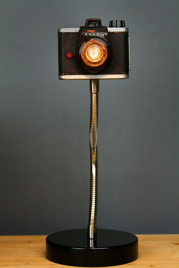 Upcycled Camera Lamp by RetroBender on Etsy. I want one!!!
