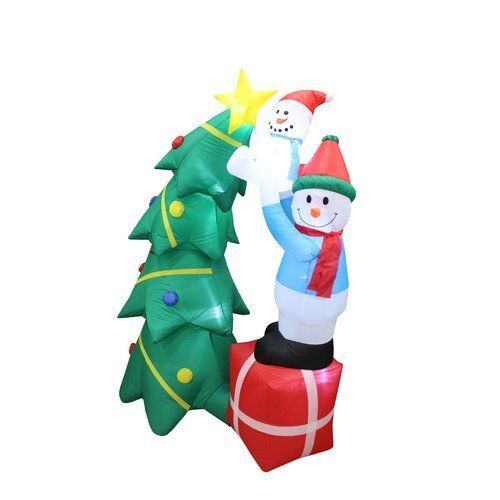 Details about CHRISTMAS SANTA 65 FT TREE WITH PRESENTS AIRBLOWN
