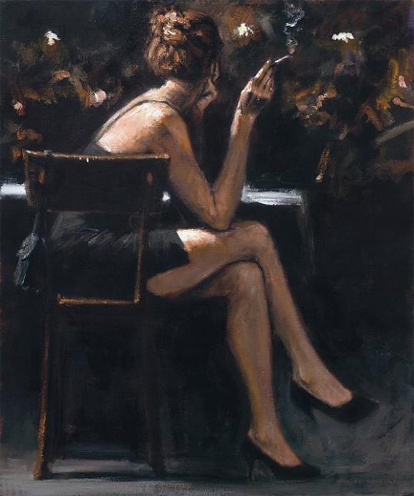 Hay una nostalgia en mi copa.. Fabián Pérez #art #painter #frases