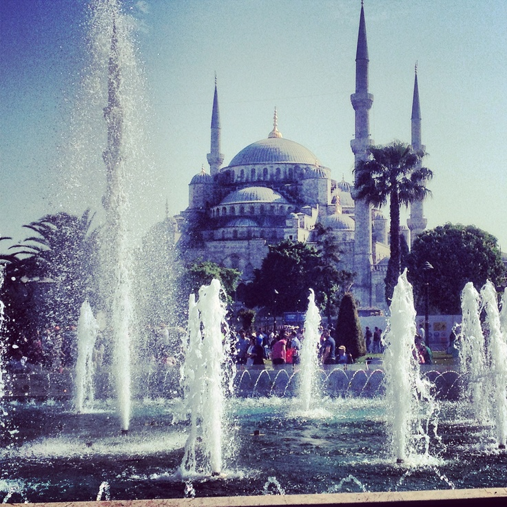 The Blue Mosque shows off on a summer's day in Istanbul.