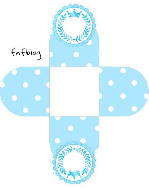 Forminhas Docinhos 3d Realeza Azul Forminhas Para Doces Chas De