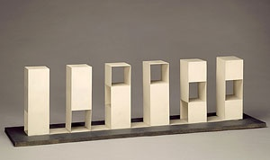 sol leWitt: series 1-2-3: 47 3-part variations on three different kinds of cubes (1968)