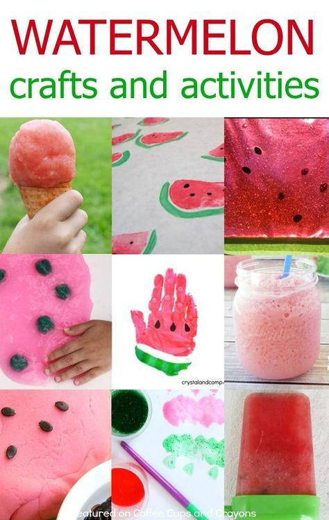 Super fun watermelon themed crafts and activities kids love! Bring on summer!