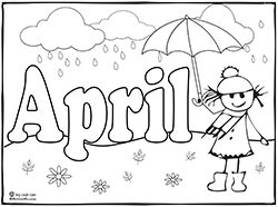 Months of the year coloring pages Preschool coloring