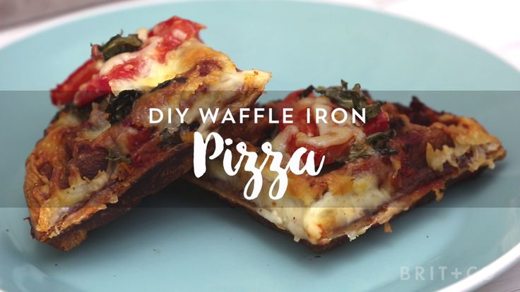 Make single-serve Waffle Iron Pizza with this DIY food recipe hack video tutorial.