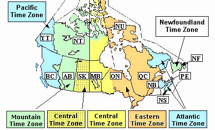 Newfoundland Labrador Time Zone