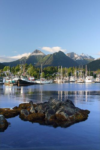 Sitka, Alaska. One of only two Southeast Alaska towns that are directly