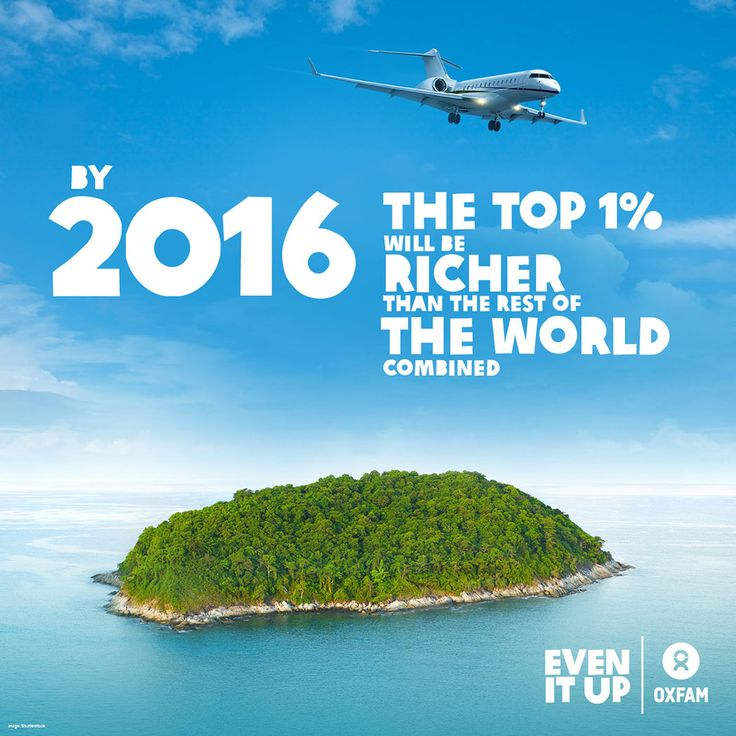 Inequality is out of control. SHARE this pin if you, like us, think we need to #EvenItUp