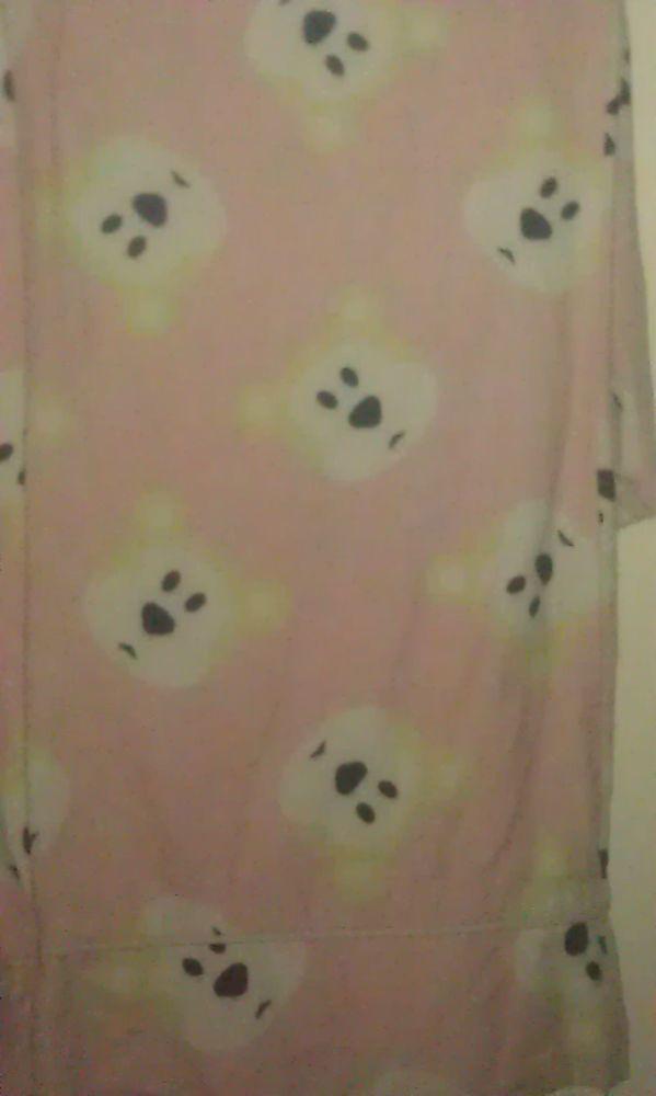Vintage Paul Frank Isaac Polar Bear Pink Pajama Pants Made in USA