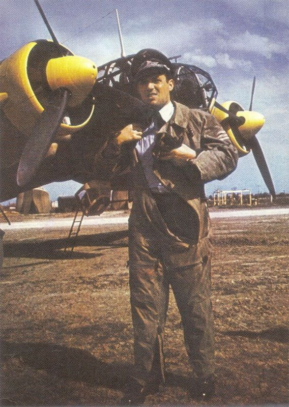 First Lieutenant in the Luftwaffe bomber Ju-88 during the Balkan campaign