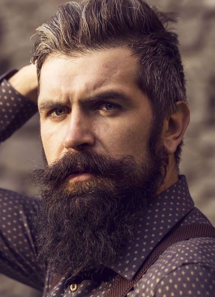taille barbe bouc long et style hipster homme
