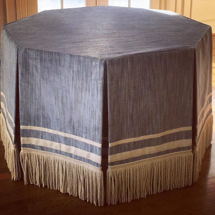 Add Interest To Custom Table Skirts And Window Treatments Using Varying  Widths Of Simple Tapes. Design By Bear Hill Interiors Using Tape And Fringe  By ...