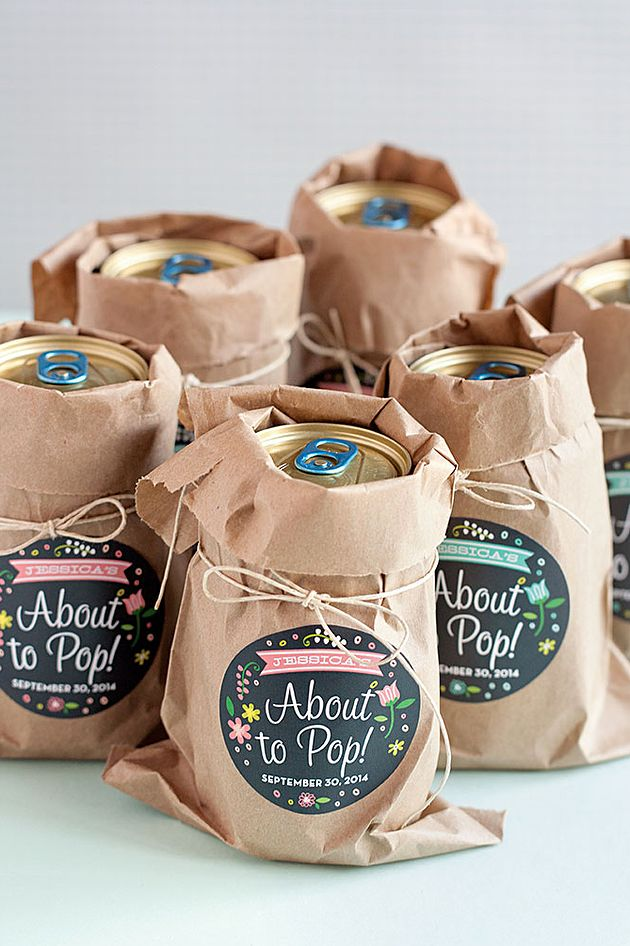 Cute idea for a baby shower - She's about to pop!