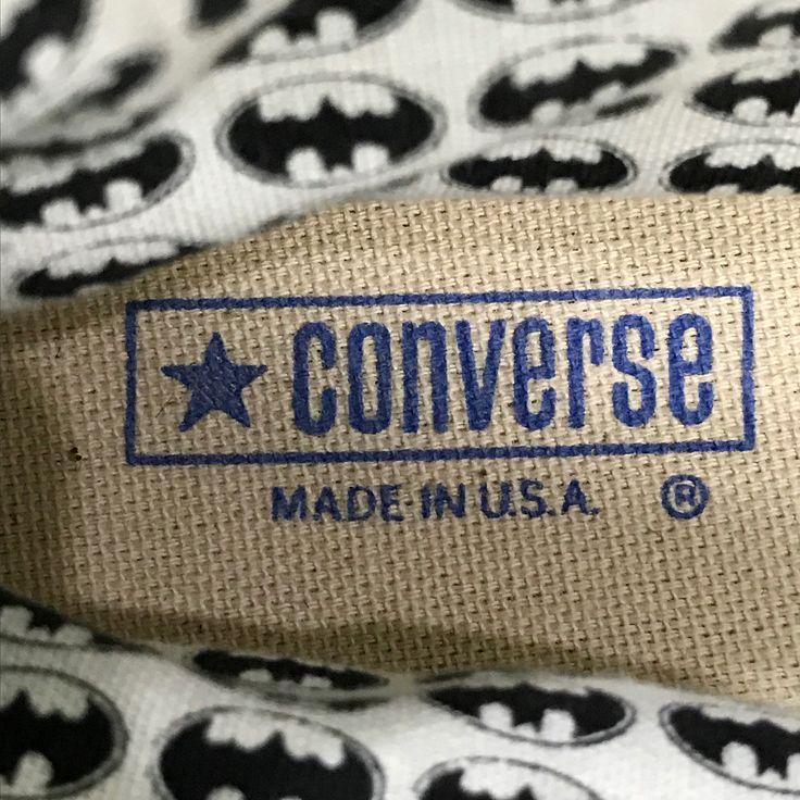 [Deadstock] Converse All Star Chuck Taylor Hi 1989s Batman Collection Made in USA. SIZE (US): 7.5  PRICE: 7590 บาท . Converse All Star Chuck Taylor ทรงหมขอ คอลเลคชน พเศษจาก Converse ป 1989 รวมทำเปนครงแรกในภาพยนตรเรองBatman เบอร 7.5 มอ1 ของใหม ราคา  7590 บาท .  สอบถามเพมเตม: INBOX   Tel. 0951592446  Line ID : 0951592446 . CONVERSE EXCLUSIVE www.facebook.com/converseexclusive  #converse #converseallstar #converse80#conversevtg #converseusa #conversevintage #conversemadeinusa #vintageallstar…