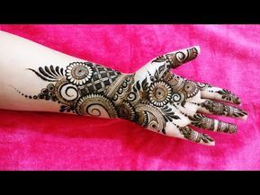 Indo Arabic Mehndi Design For Front Side 2018 Youtube Henna