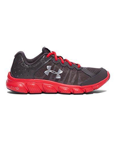 Under Armour Big Boys' Grade School UA Micro G Assert 6 Running Shoes 5 Charcoal