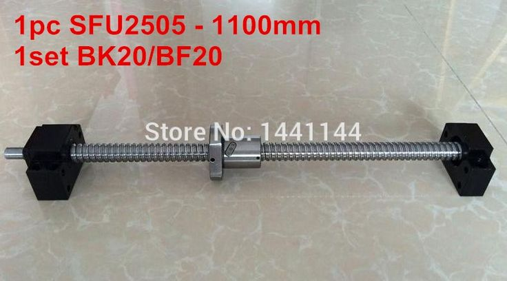 69.00$  Watch now - http://aliw4k.shopchina.info/go.php?t=32657884871 - 1pc SFU2505- 1100mm ballscrew with end machined + 1set BK20/BF20 Support  CNC Parts 69.00$ #buyininternet