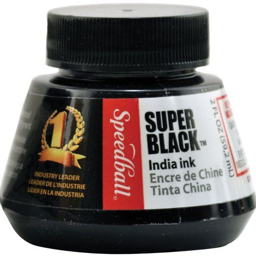 Speedball 2-Ounce India Ink, Super Black