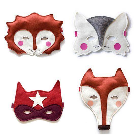 really cute felt masks for kids