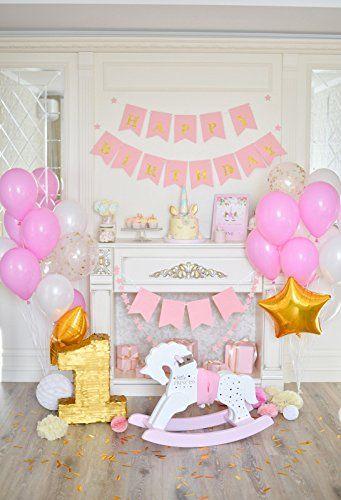 Photo Studio Laeacco Photography Backdrops Balloon Happy Baby Birthday Party Celebration Cake Table Dessert Background Photocall Photo Studio Consumer Electronics