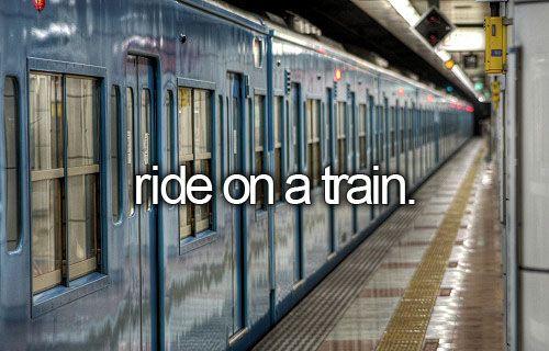 x | ride on a train