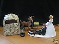 Funny cake topper for a hunter