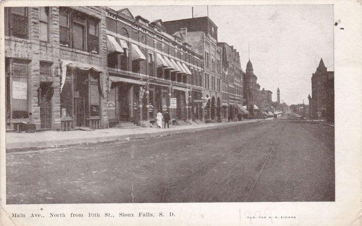 SIOUX FALLS, South Dakota, PU-1909 ; Main Avenue North from 10th