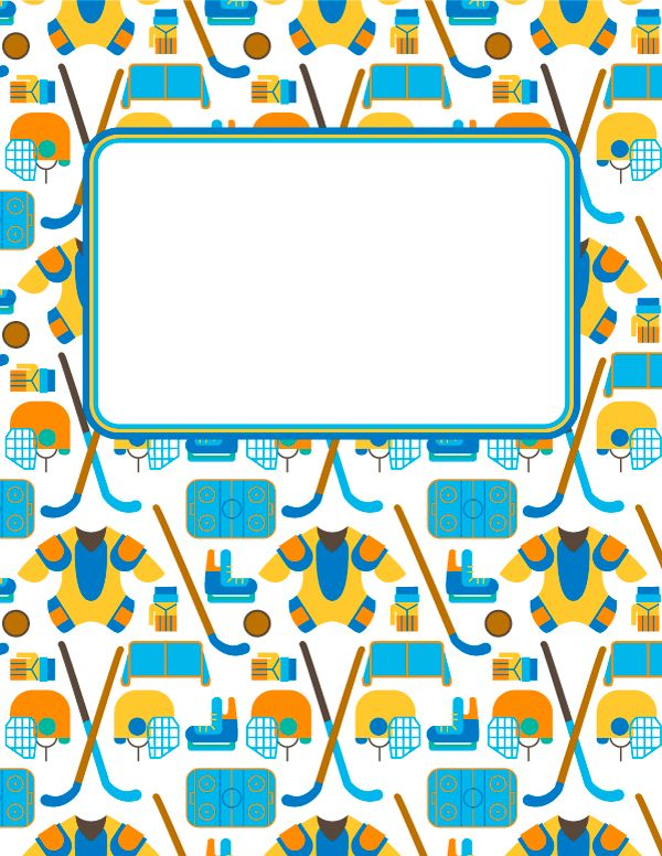 The 25+ best Binder cover diy ideas on Pinterest Binder covers - hockey templates free