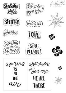 shraddha freebies wordsart spring