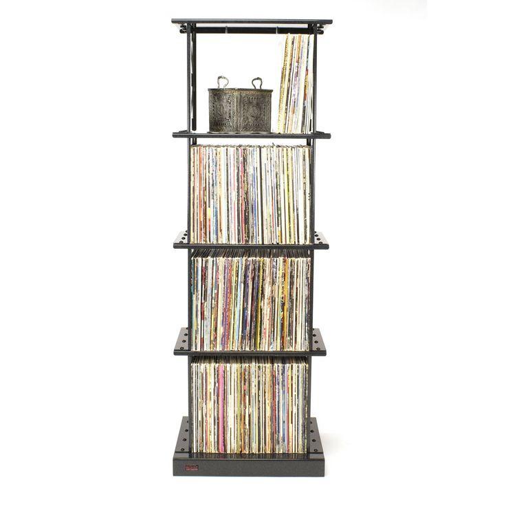lp album storage rack 4 shelves by boltz lp storage boltz steel