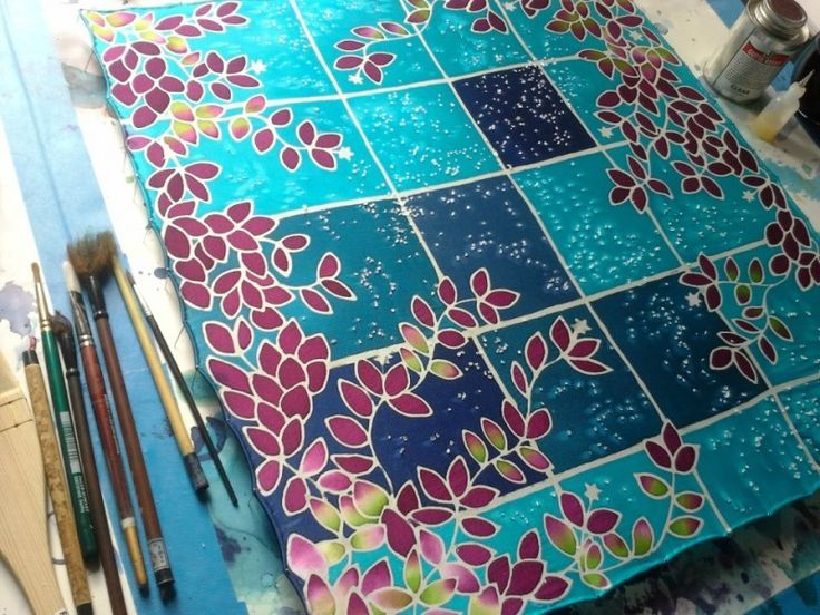 Image Result For Silk Scarf Painting Ideas Silk Painting Fabric Painting Techniques Fabric Painting