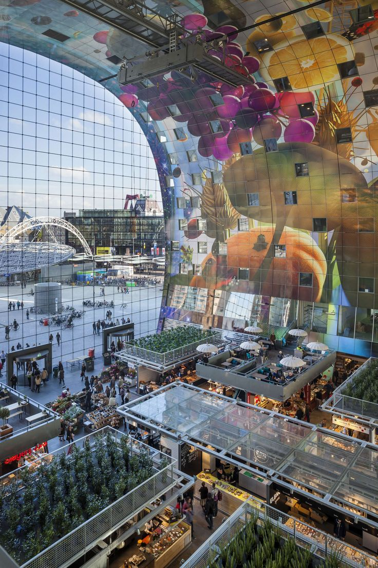 Rotterdam has a new icon, Markthal Rotterdam. At a historical location at the Binnenrotte, next to Blaak Station and the largest weekly open air fresh food a...