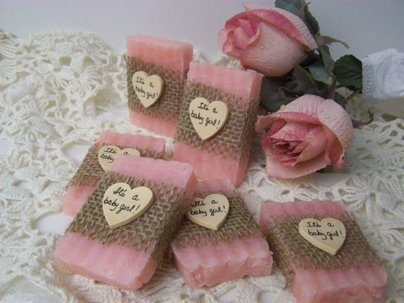 girl baby shower favors mini soaps by countrychicsoaps baby
