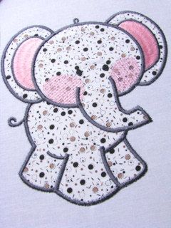 Baby Elephant Applique Machine Embroidery Design by KCDezigns, $3.00