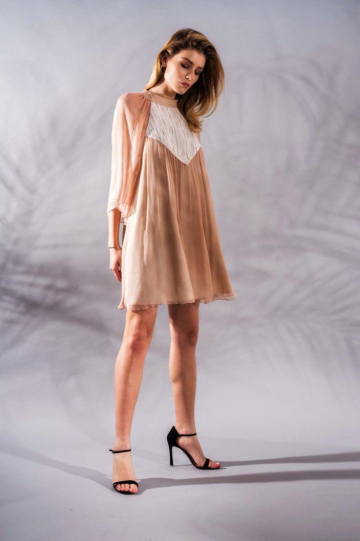 Rose Quartz Silk Dress www.framboise.ro
