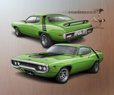 Plymouth Roadrunner 1972 (green)