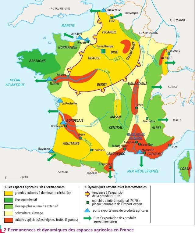 Croquis De Synthese Sur Les Espaces Productifs Histoire Geographie 72 Geographie Histoire Geographie Bassin Parisien