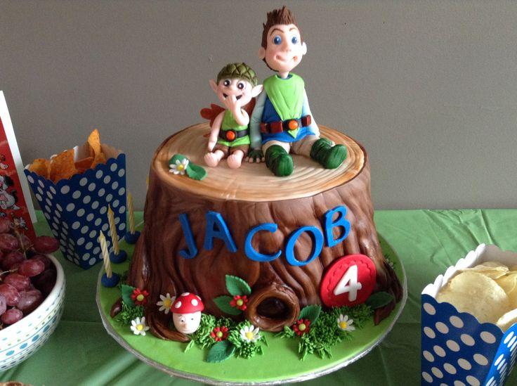 Fete de Jacob, 4 ans. Tree fu tom, amazing cake!