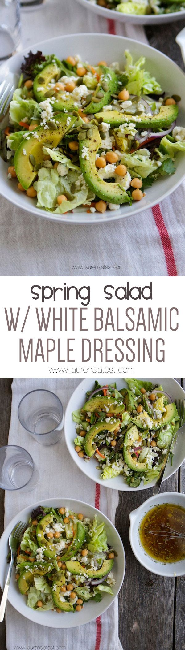 Ultimate Spring Salad with White Balsamic Maple Dressing