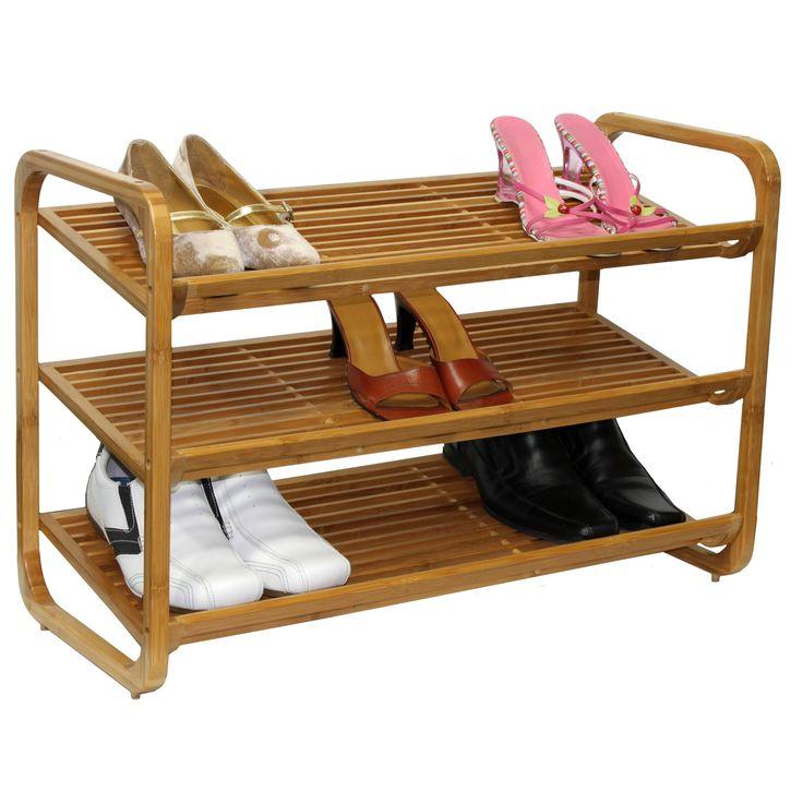 Oceanstar SR1231 3-Tier Bamboo Shoe Rack