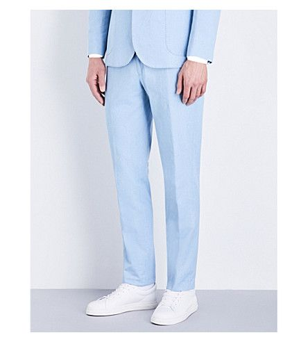 HARDY AMIES Bleached Heddon-Fit Denim Pants. #hardyamies #cloth #pants & shorts
